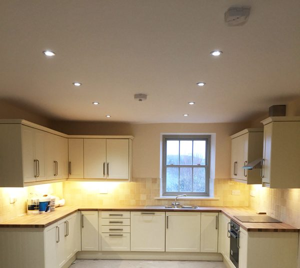 Electrician Carnforth Lancashire Kithcen wiring and lighting
