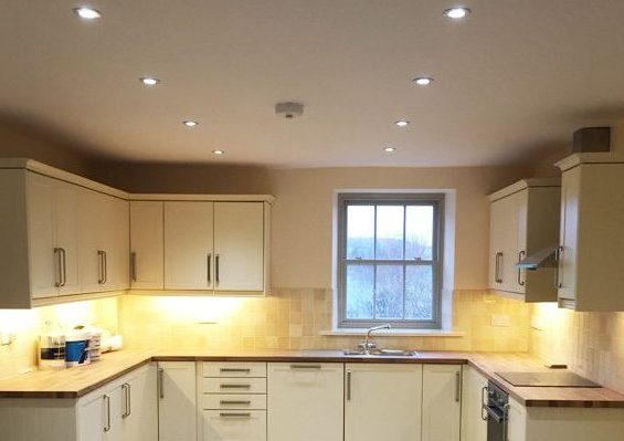 Electrics for fitted kitchen
